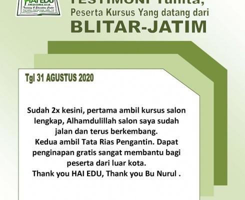 Testimoni Murid HAI-EDU INDONESIA Terimakasih atas semua saran & masukan, kami simpan sebagai bahan pertimbangan untuk kemajuan bersama Teruntuk seluruh Alumni, Semoga ilmu yg dipelajari bisa bermanfaat secara maksimal, barokah […]